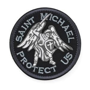 Патч Архангел Михаил Saint Michael Protect Us (круглый)