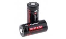 Аккумулятор Soshine RCR123 3.0V 650 mAh (Комплект 2 шт.)