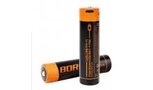 Аккумулятор Boruit тип 18650 2600 mAh с Micro USB