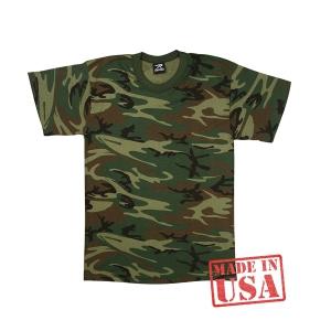 Армейская футболка Rothco Woodland Camo