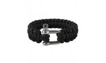 Паракордовый браслет со стальной пряжкой (Black)
