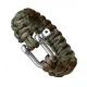 Паракордовый браслет со стальной пряжкой (Woodland)