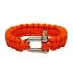 Паракордовый браслет со стальной пряжкой (Orange)