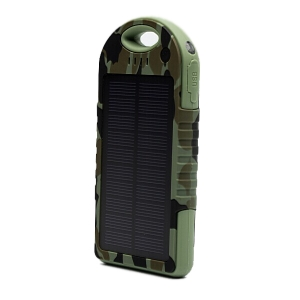 Внешний аккумулятор с солнечной зарядкой (12000 mAh)