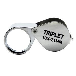 Карманная металлическая лупа 10х-21 мм