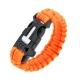 Браслет из паракорда с огнивом (Safety Orange)