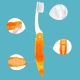 Складная походная зубная щетка Bojie