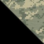 Камуфляж с черным клинком